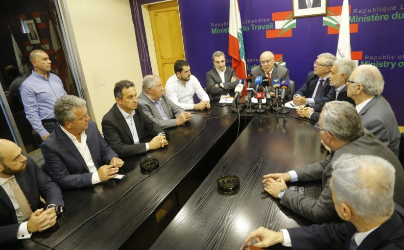 Minister Kamil Abou Sleiman meets Minister Wael Abou Faour with a Delegation