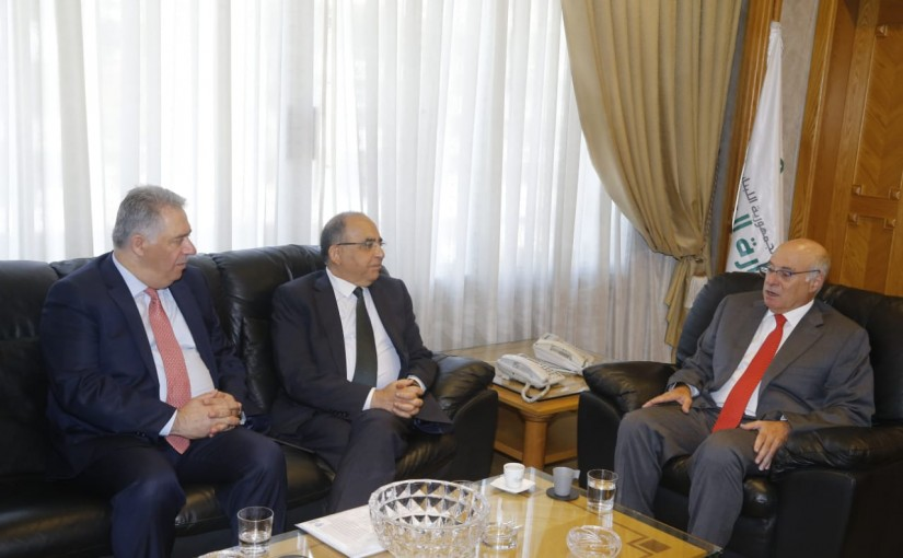 Minister Kamil Abou Sleiman meets Chairman of the Lebanese Palestinian Dialogue Committee Former Minister Hassan Mneimneh & Palestinian Ambassador