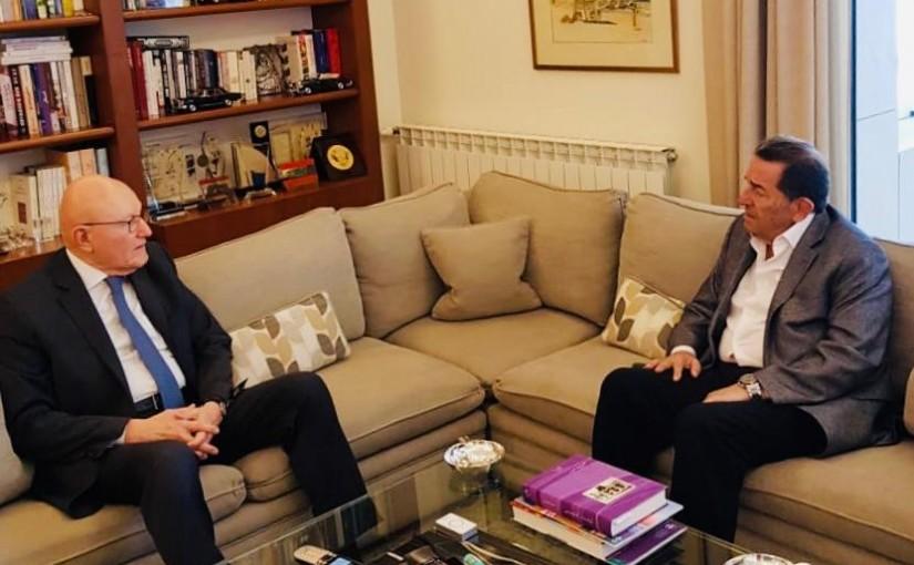 Former Pr Minister Tammam Salam meets Former Minister Boutros Hareb