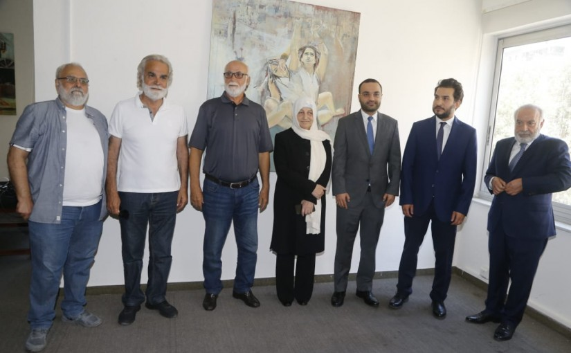 Minister Mouhamad Daoud Daoud meets a Delegation from Saida Families