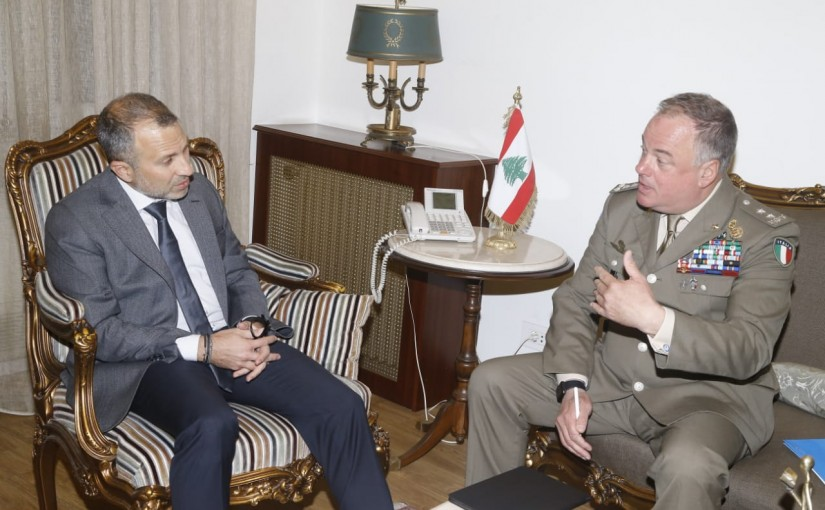 Minister Gebran Bassil meets a Delegation from UNIFIL