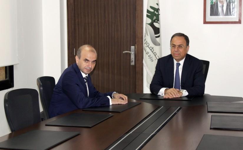 Minister Mansour Bteich meets Ambassador Salim Badoura