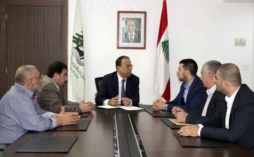 Minister Mansour Bteich meets MP Wajih Baarini with a Delegation