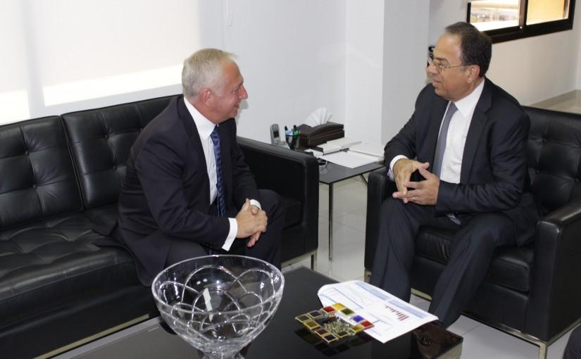 Minister Mansour Bteich meets Armenian Ambassador