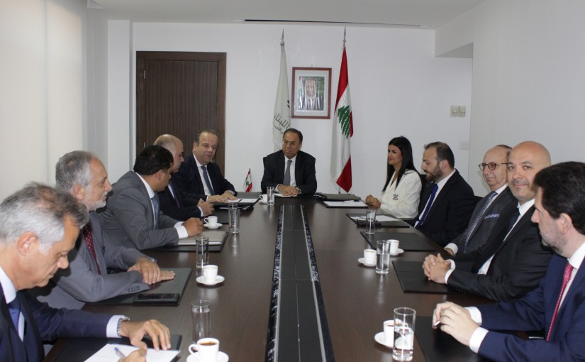 Minister Mansour Bteich meets a Delegation from Assurance Syndicate