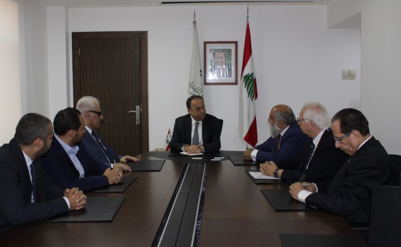 Minister Mansour Bteich meets a Delegation from European Furniture Syndicate