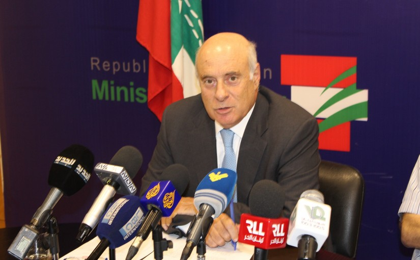 Press Conference for Minister Kamil Abou Sleiman