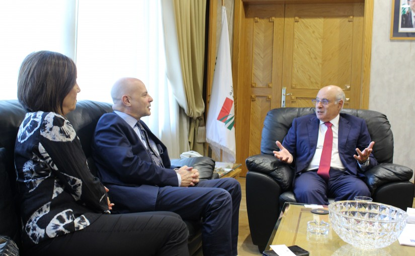 Minister Kamil abou Sleiman meets a Delegation from UNDP