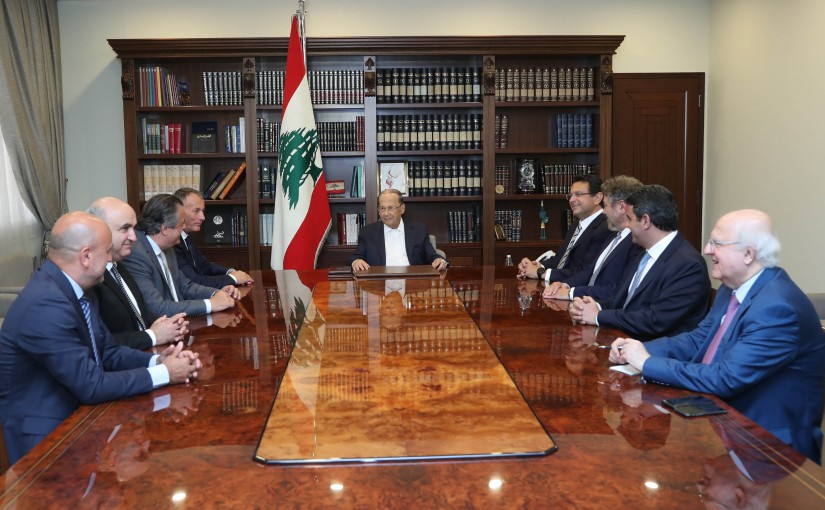 President Michel Aoun Meets a Delegation From Keserwen & Jbeil MPs