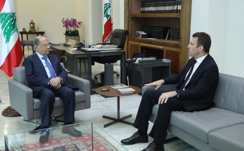 President Michel Aoun Meets Lebanese Ambassasdor in Nigeria-Abuja Hussam Diab