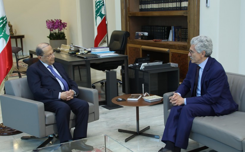 President Michel Aoun Meets Mr Massimo D'alema ( Italian Europei Foundation )