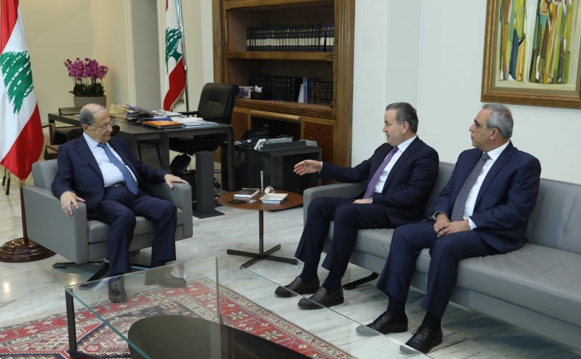 President Michel Aoun Meets MP Asaad Dergham & Mr Fadi Barbar