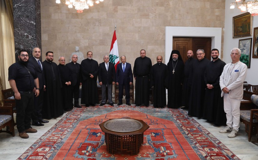 President Michel Aoun Meets MP Mario Aoun with a Delegation From The Chouf Region