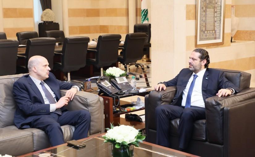 Pr Minister Saad Hariri meets Fahed el Moukadem