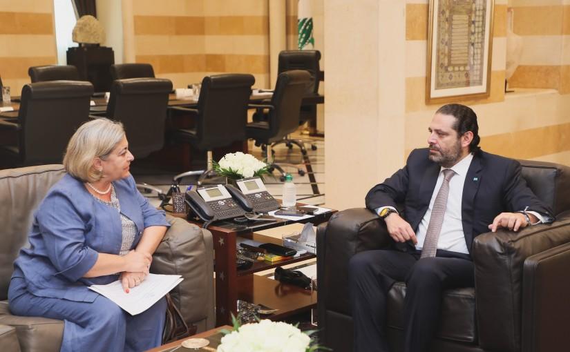 Pr Minister Saad Hariri meets Mrs Carmila Ghodo