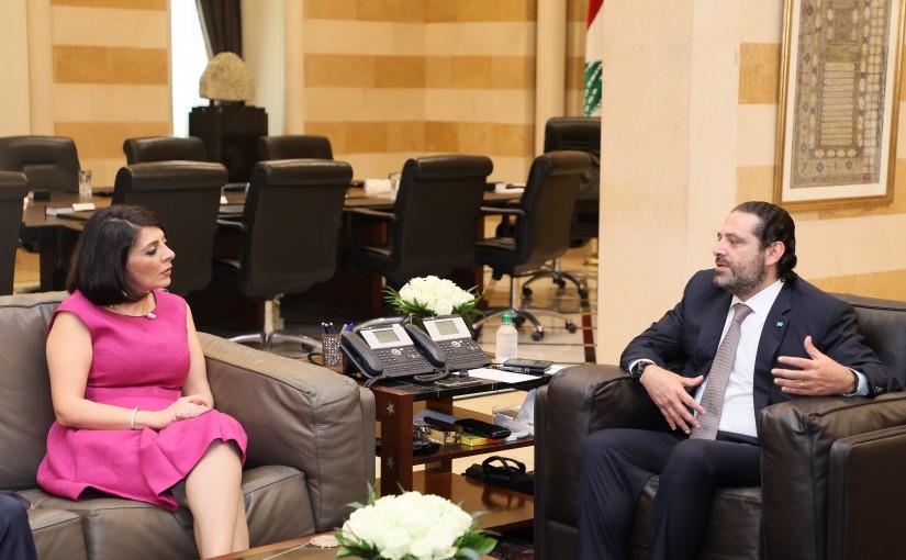 Pr Minister Saad Hariri meets an Australian Delegation