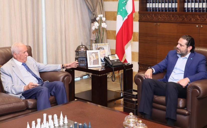 Pr Minister Saad Hariri meets Mr Raouf Abi Ziki