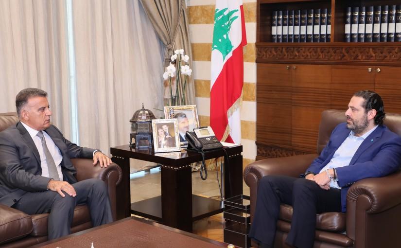 Pr Minister Saad Hariri meets General Abbass Ibrahim