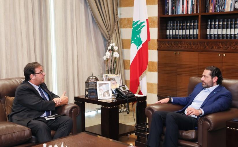 Pr Minister Saad Hariri meets French Ambassador