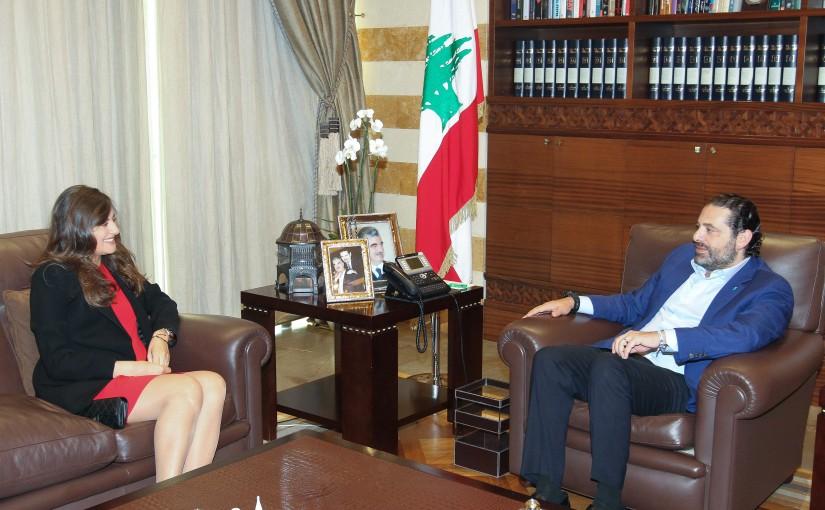 Pr Minister Saad Hariri meets Mrs Marie Jane Pilajakjian