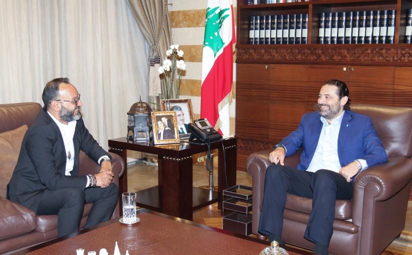 Pr Minister Saad Hariri meets Mr Ziad Itani