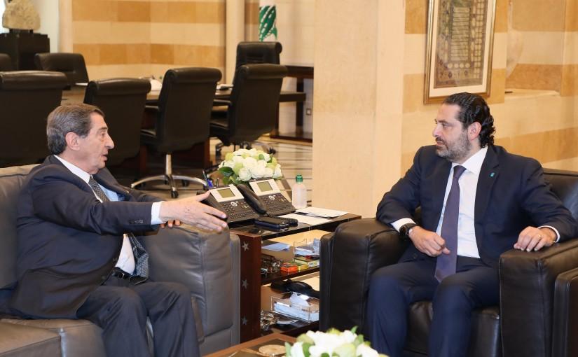 Pr Minister Saad Hariri meets Deputy House Speaker Elie Ferezly