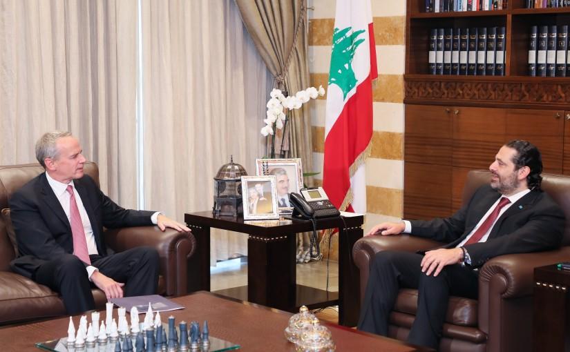 Pr Minister Saad Hariri meets US Charger D affairs