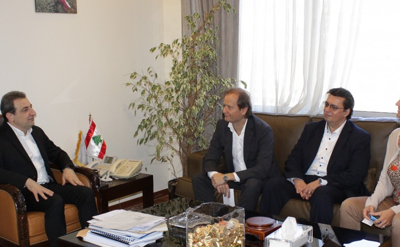 Minister Wael Abou Faour meets a Delegation from UNIDO