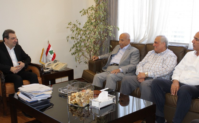Minister Wael Abou Faour meets a Delegation from Bakery Syndicate