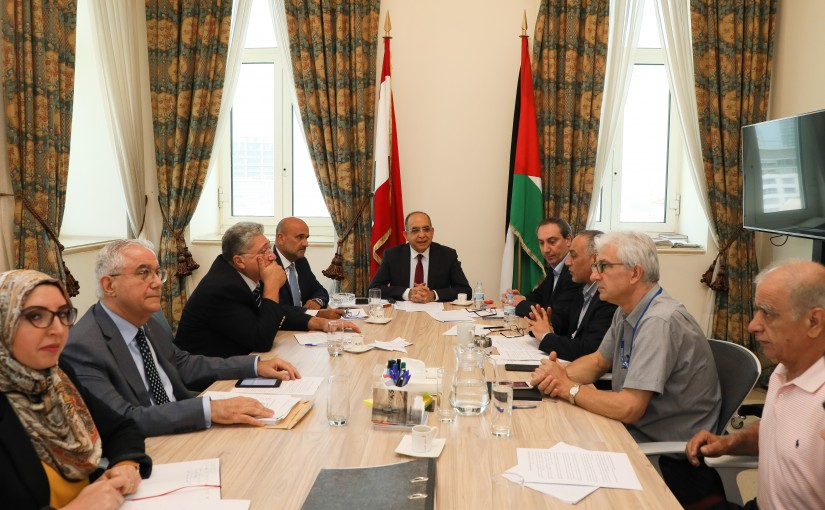 Meeting for Palestinian Delegation at the Grand Serail