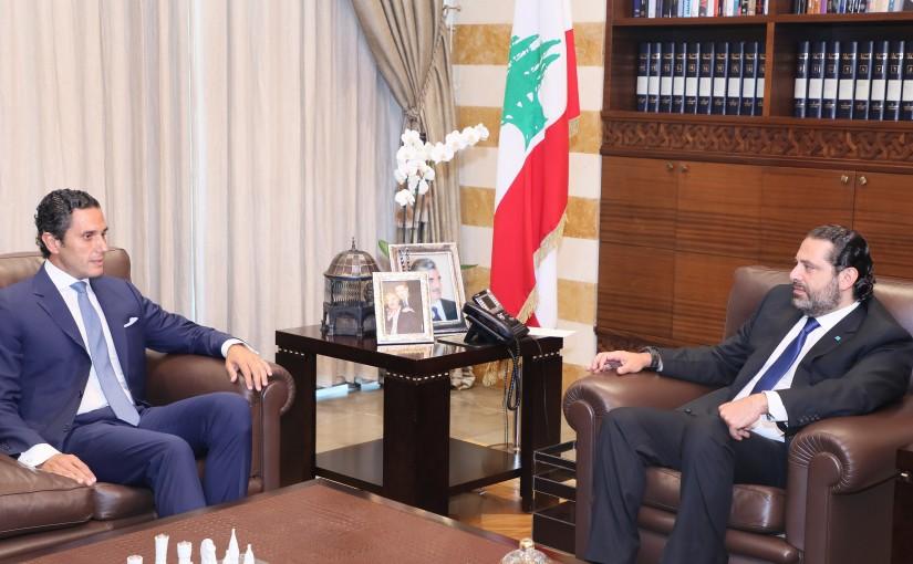 Pr Minister Saad Hariri meets Ambassador Albert Semeha