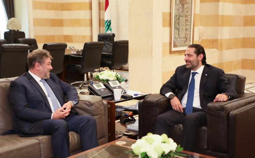 Pr Minister Saad Hariri meets MP Neamat Fre.