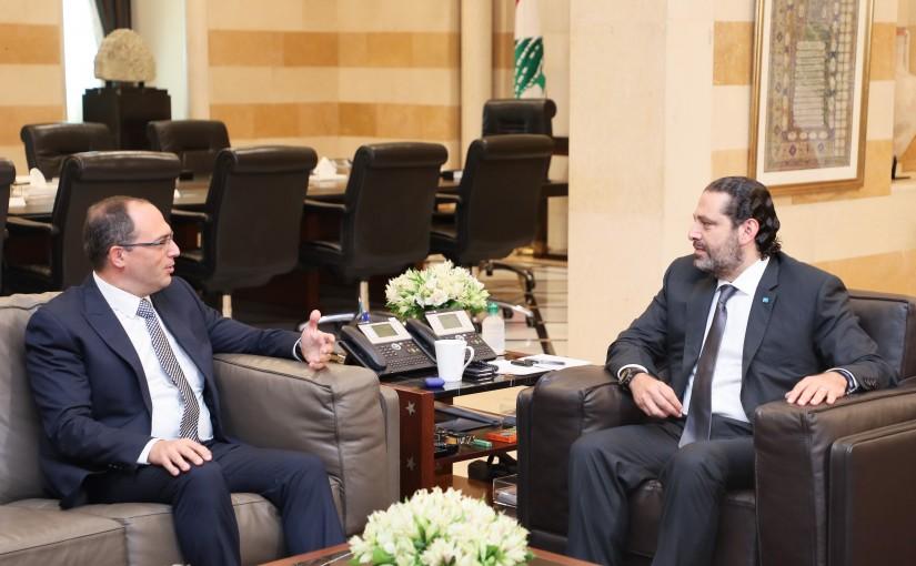 Pr Minister Saad Hariri meets Judge George Atiyeh