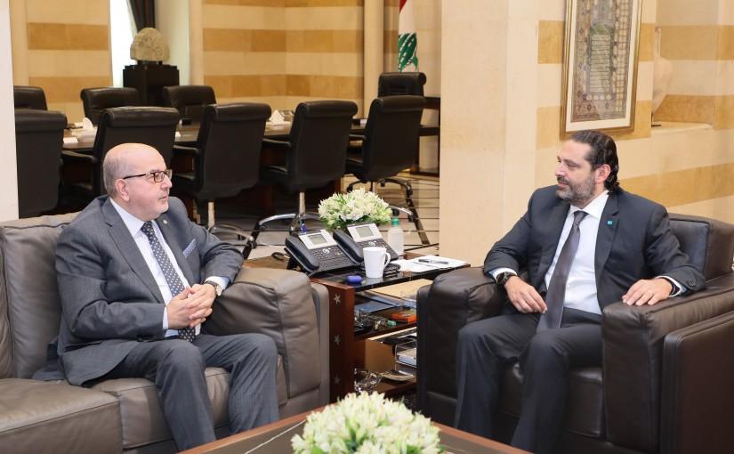 Pr Minister Saad Hariri meets Head of Homentmen Club