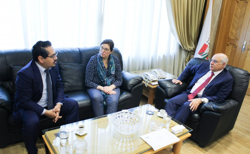 Minister Kamil abou Sleiman meets a Delegation from UNERWA