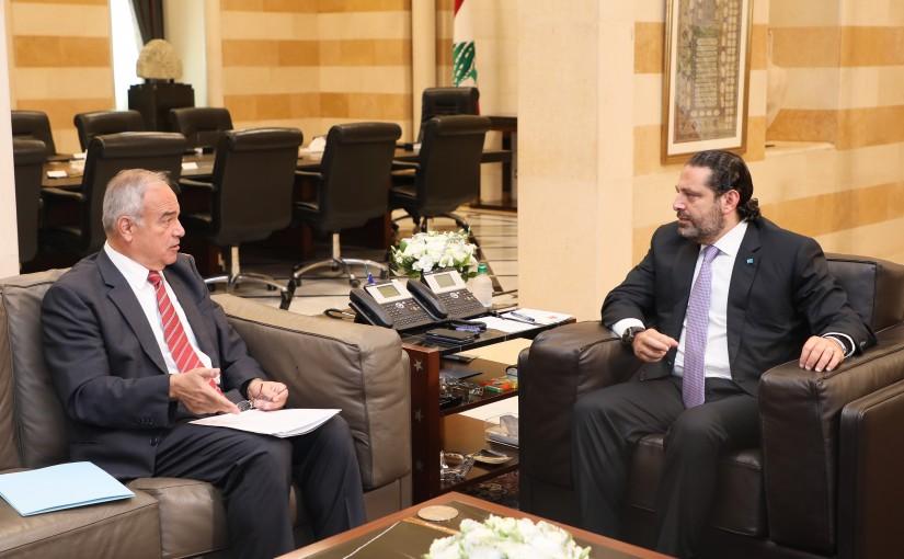 Pr Minister Saad Hariri meets Mr Abed Hafiz Mansour