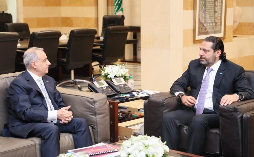 Pr Minister Saad Hariri meets Mr Imad Kreidiyeh