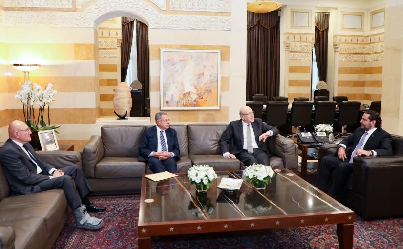 Pr Minister Saad Hariri meets Former Minister Najib Mikati & Former Minister Fouad Siniora & Former Minister Tammam Salam