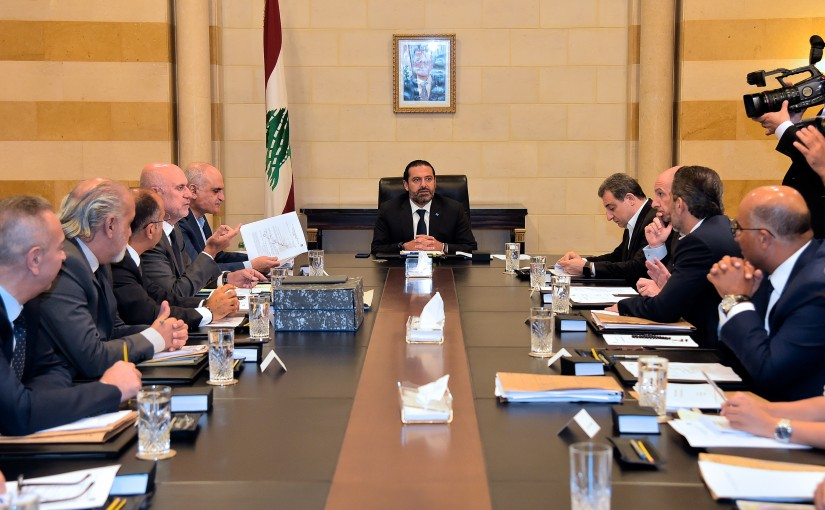 Pr Minister Saad Hariri Heading a Meeting for Garbage