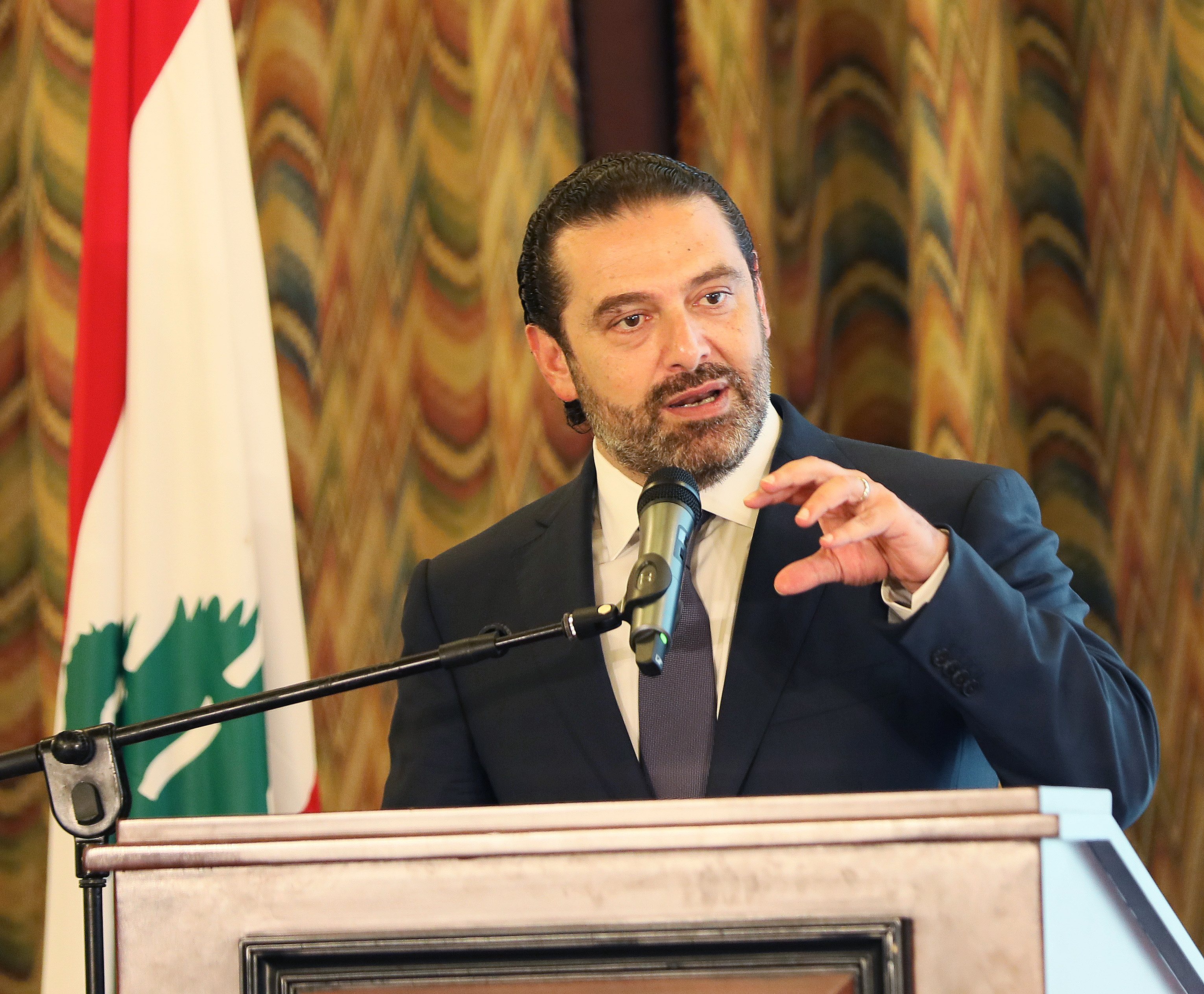 Pr Minister Saad Hariri Attends March Conference at the Grand Serail 2