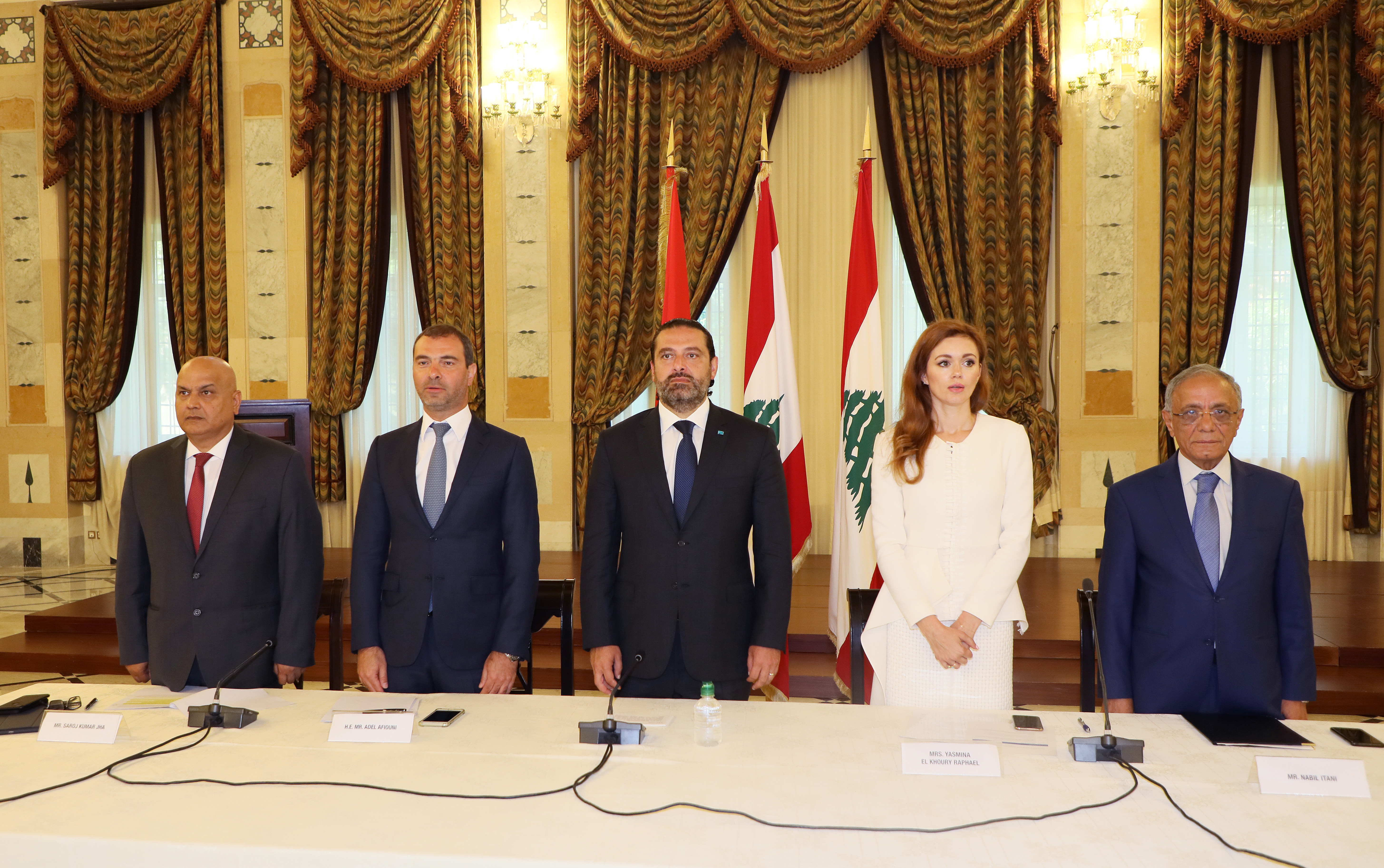Pr Minister Saad Hariri Attends a Conference for Ecomerce at the Grand Serail 2
