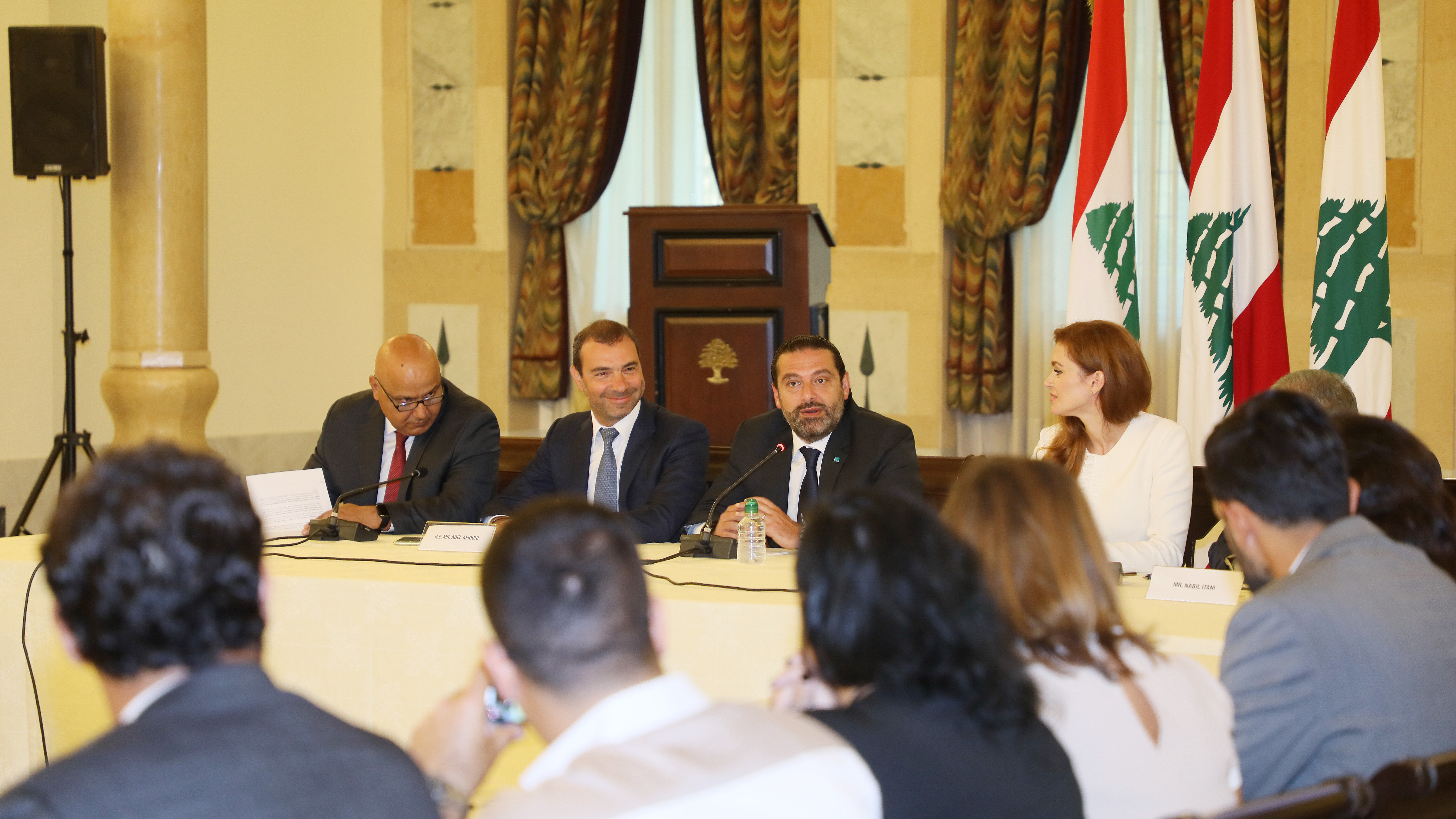 Pr Minister Saad Hariri Attends a Conference for Ecomerce at the Grand Serail