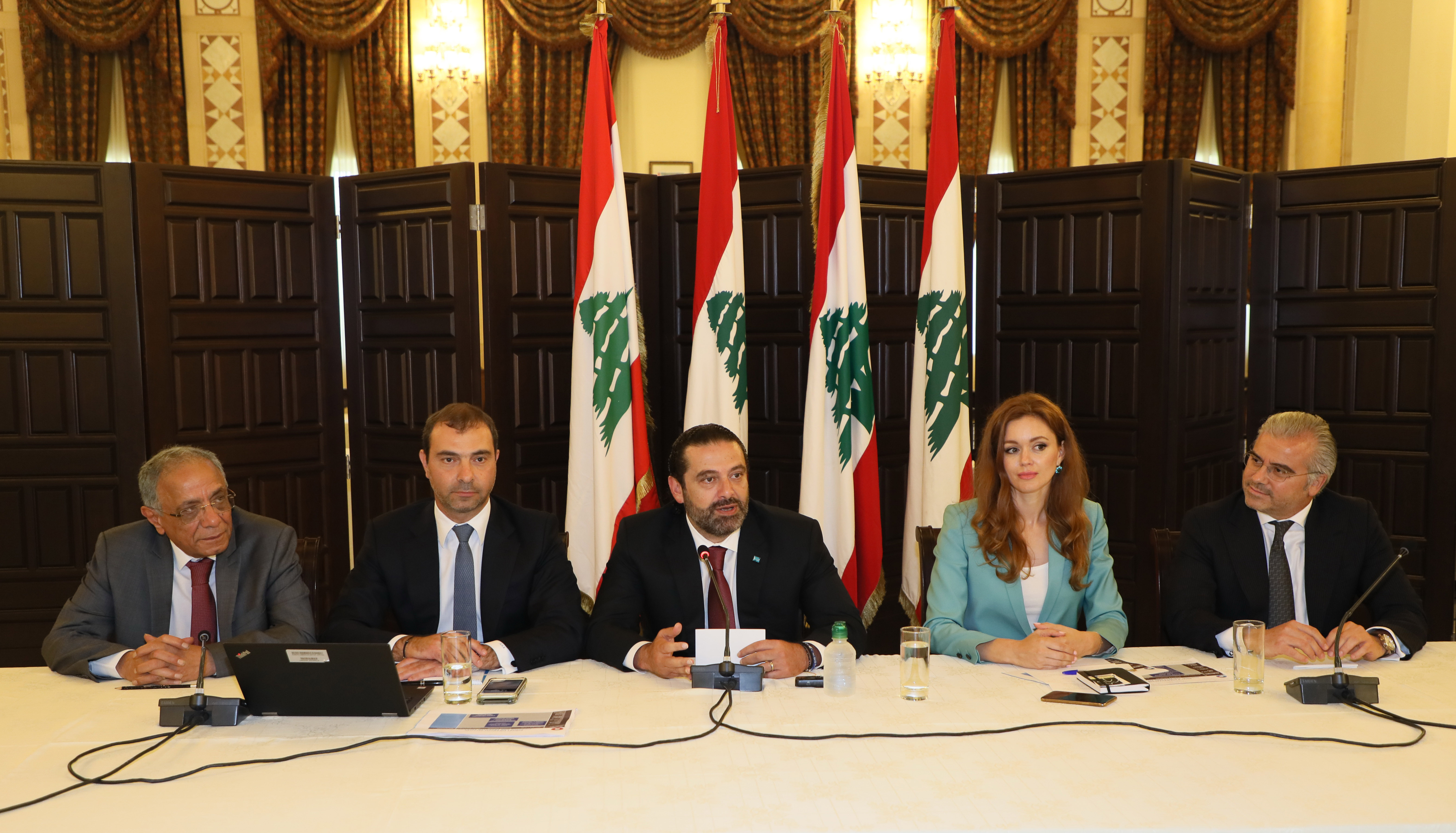 Pr Minister Saad Hariri Attnes a Workshop at Grand Serial 1