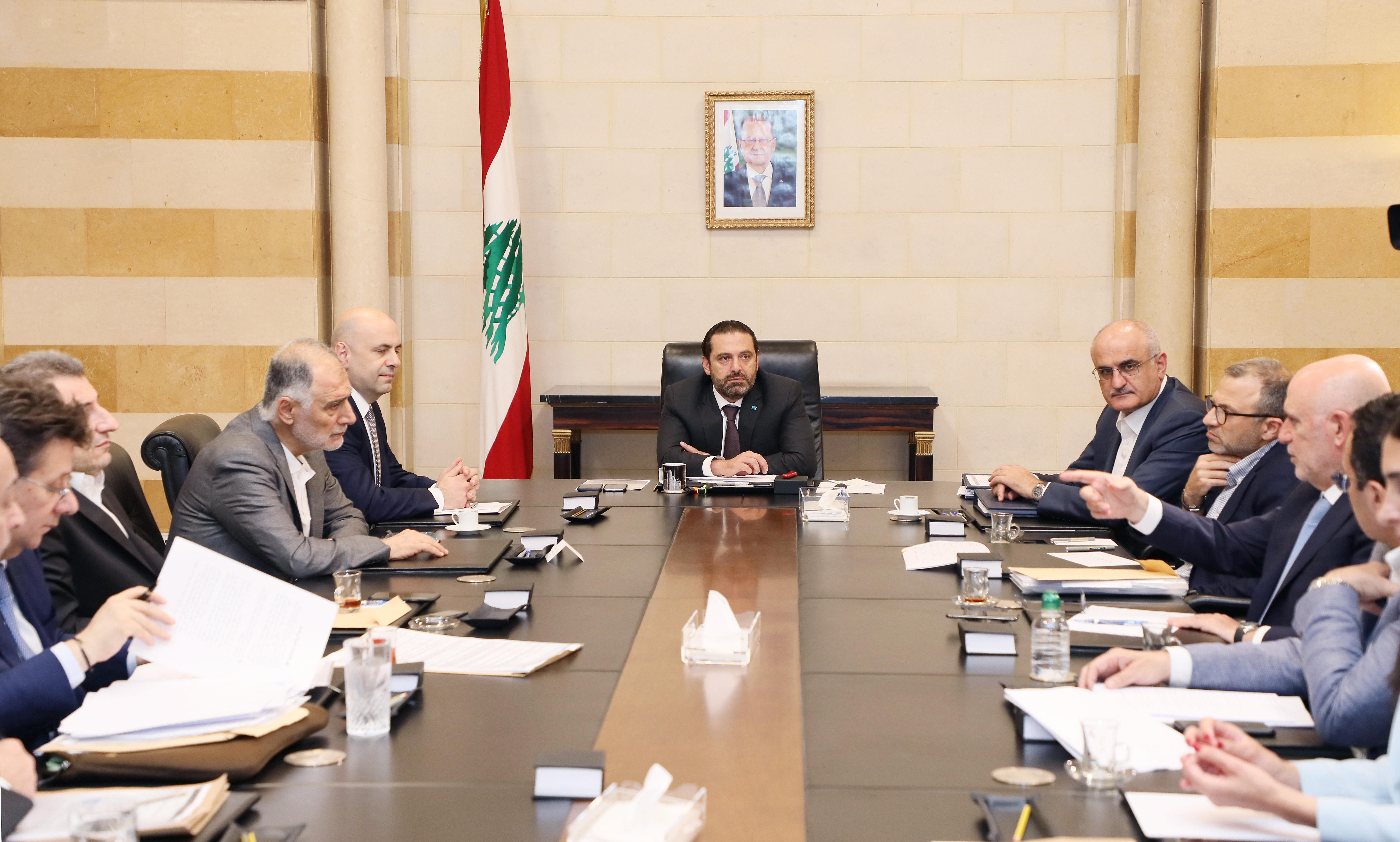 Pr Minister Saad Hariri Heading a Ministerial Council 1