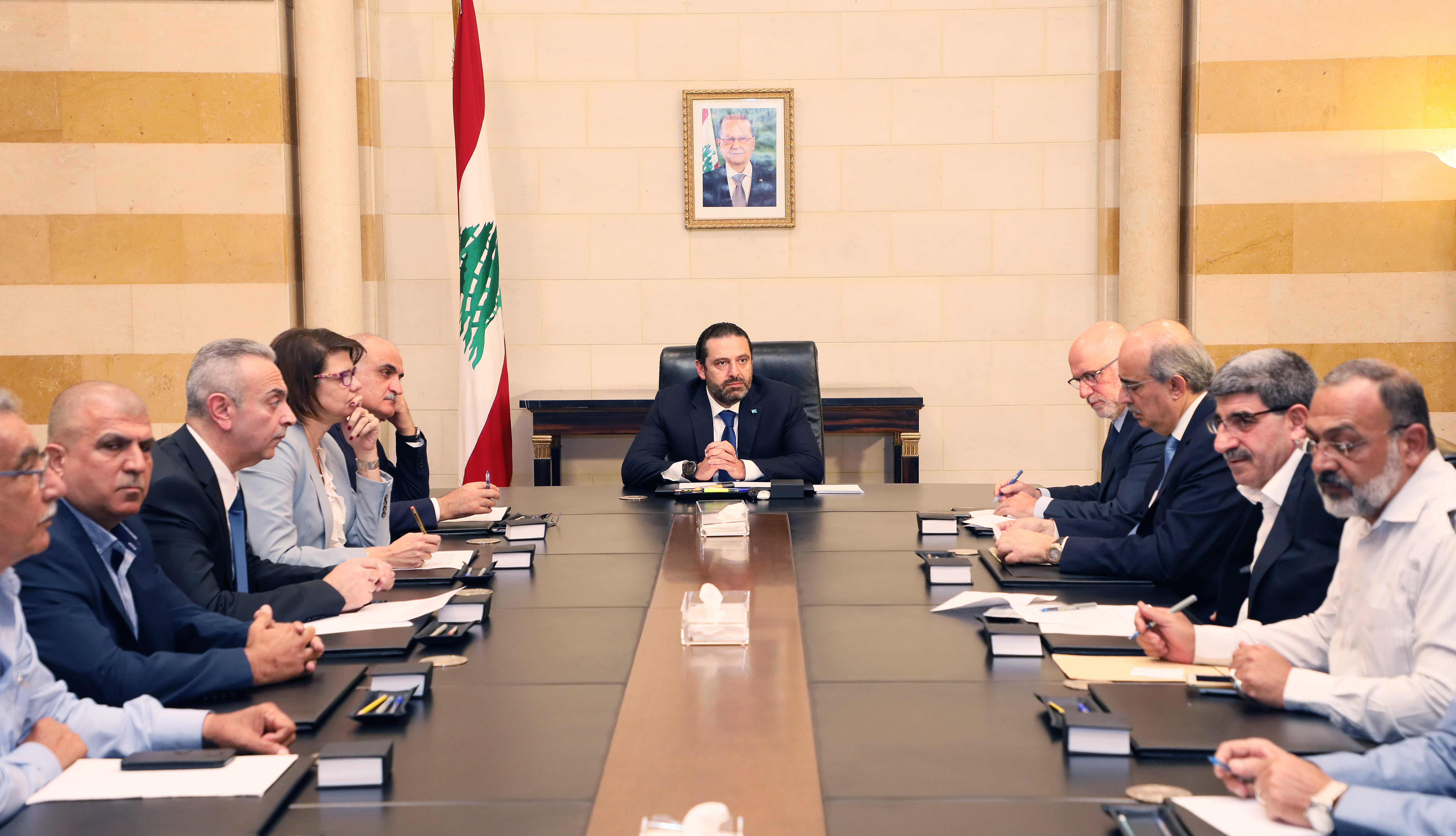 Pr Minister Saad Hariri Heading a Ministerial Council (2)