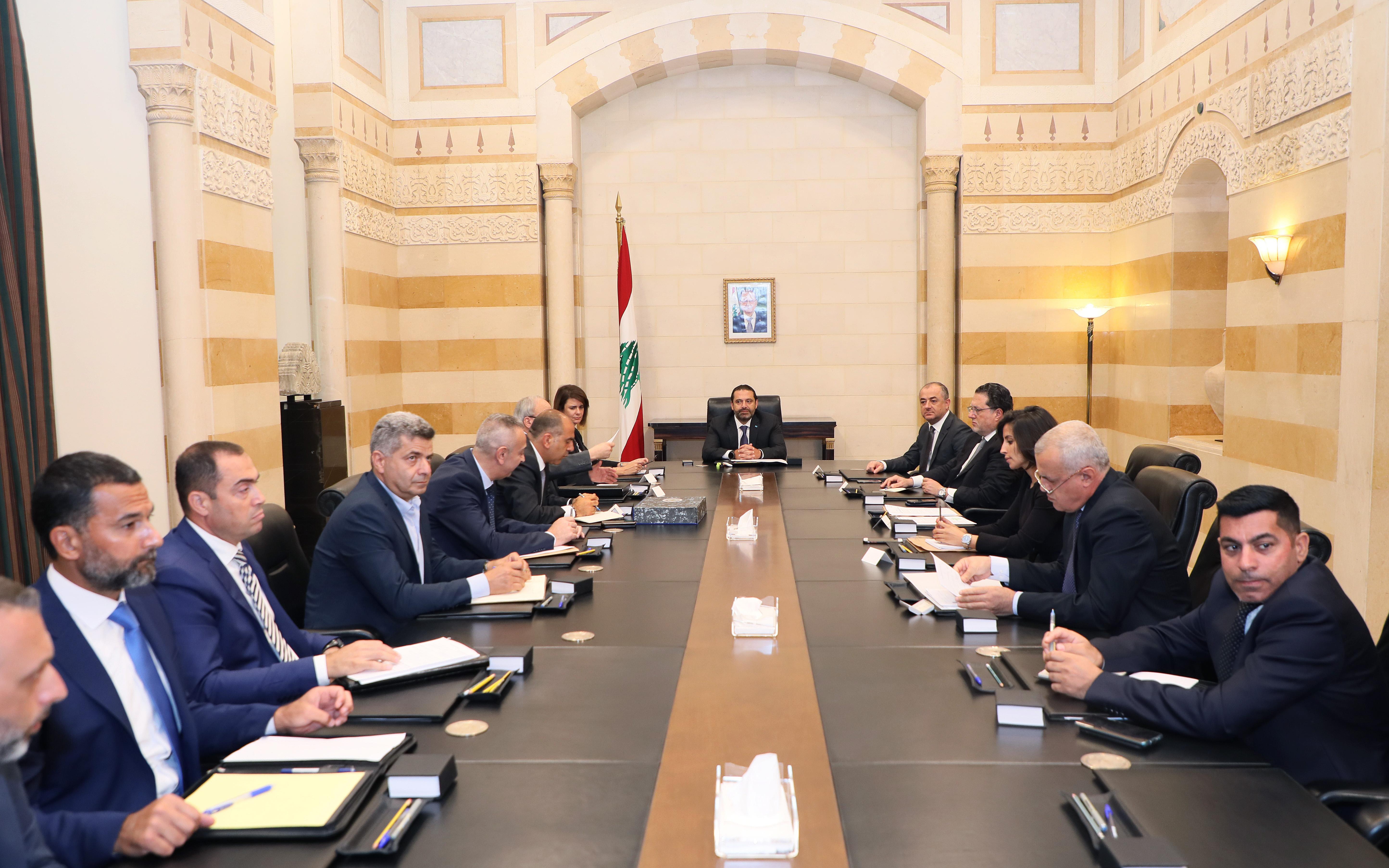 Pr Minister Saad Hariri Heading a Ministerial Council