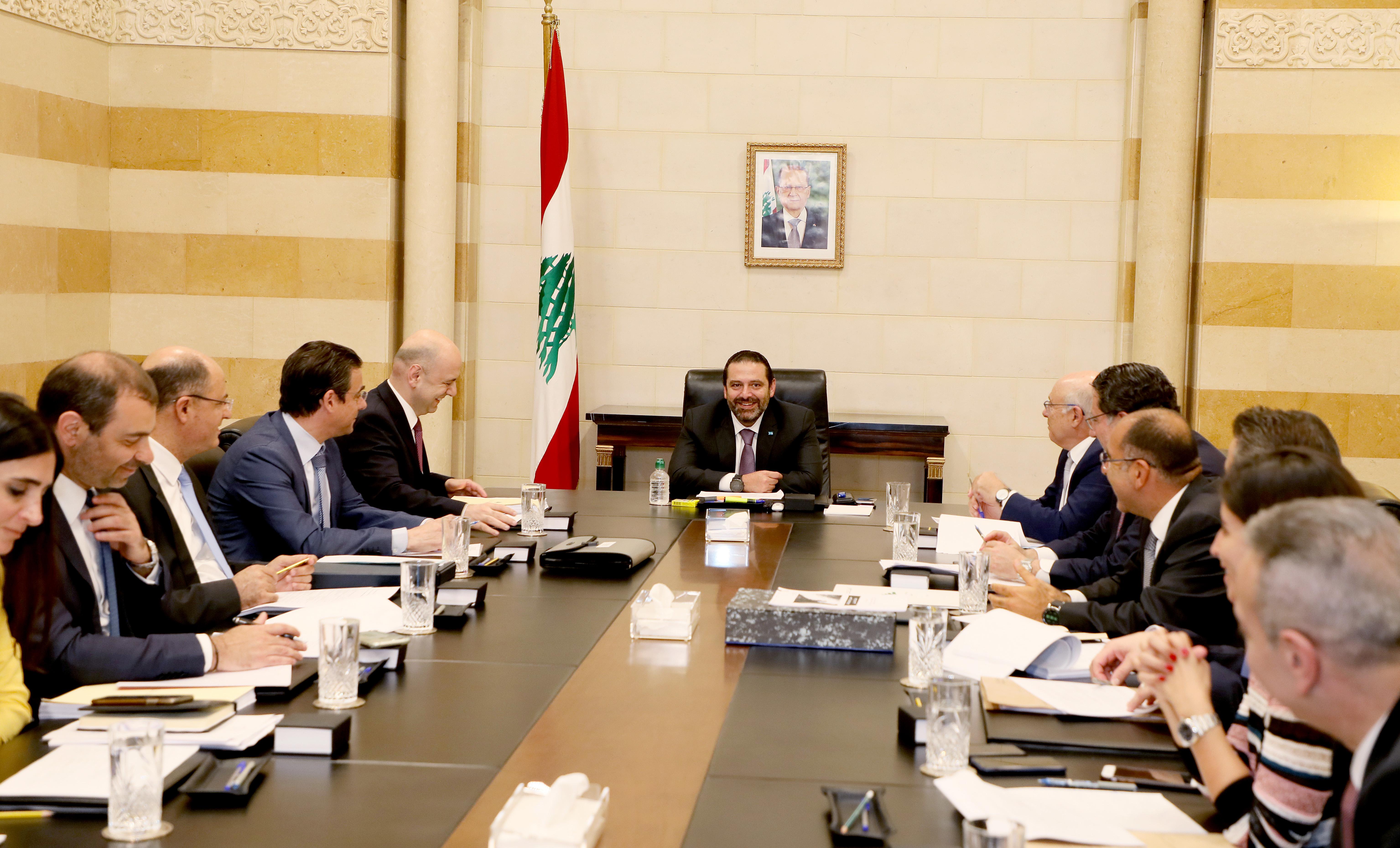 Pr Minister Saad Hariri Heading a Telecomunication Committee