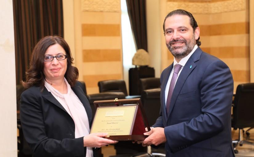 Pr Minister Saad Hariri meets Cyprus Ambassador