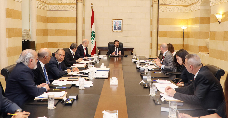Pr Minister Saad Hariri heading the Quarries & Crushers Committee 1