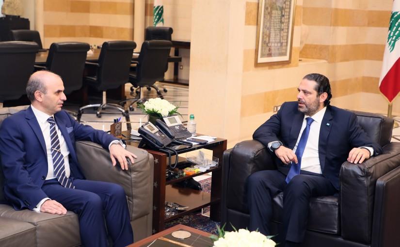Pr Minister Saad Hariri meets Ambassador Salim Baddoura